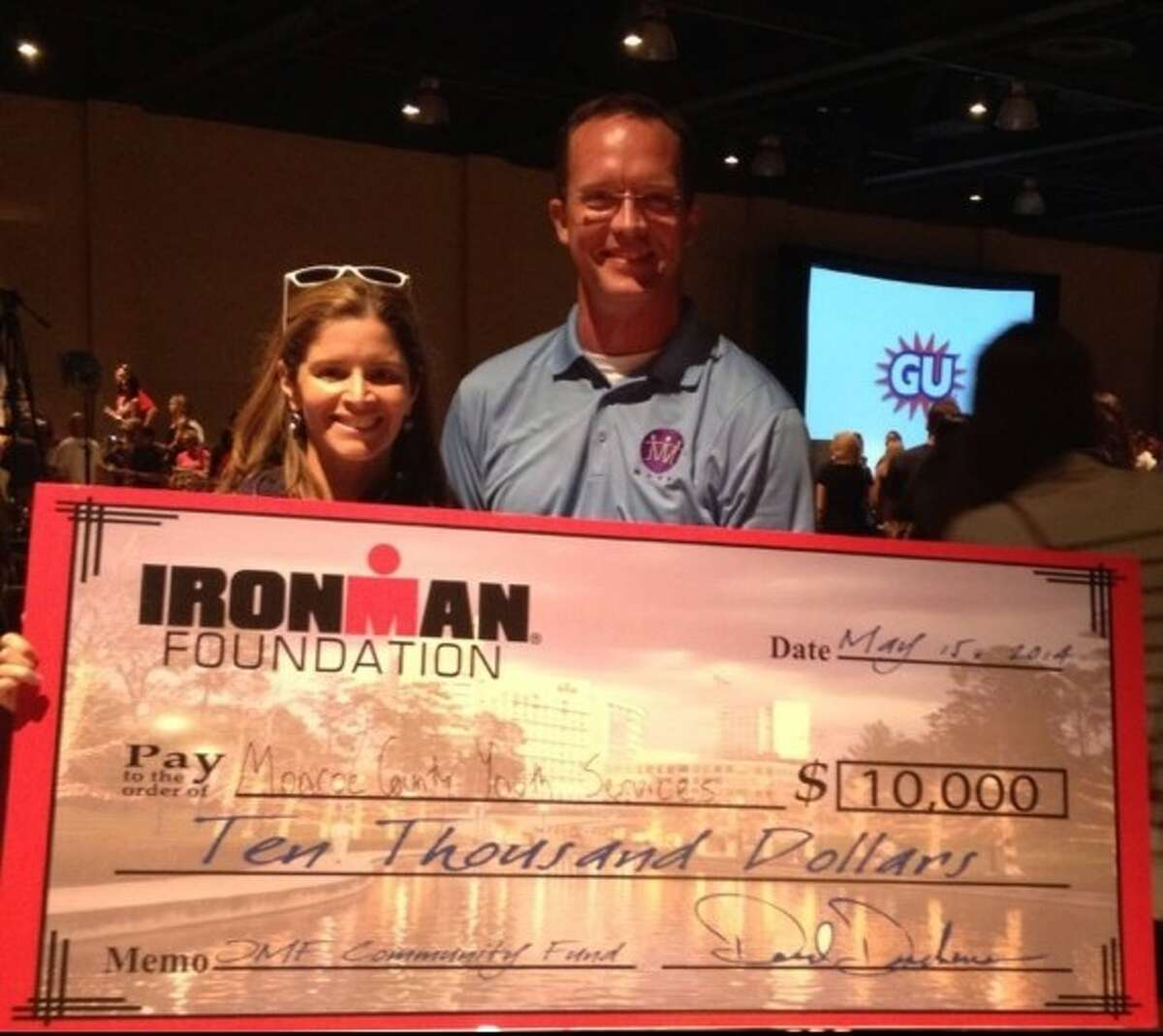 Montgomery County Youth Services (MCYS) recently received a grant from The Ironman Foundation Community Fund. The grant was awarded as part of a larger initiative of The Ironman Foundation to give back to The Woodlands Community; a total of $100,000 was contributed by the Foundation to area organizations as part of the 2014 Memorial Hermann Ironman Texas triathlon, presented by Waste Management, which took place on Saturday, May 16.