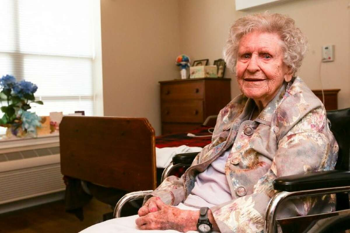 Margaret Ryan, a resident of The Village at Gleannloch Farms, is pictured on Tuesday, June 3, 2014, in her room at The Village. Ryan celebrated her 105th birthday earlier this year on May 17.