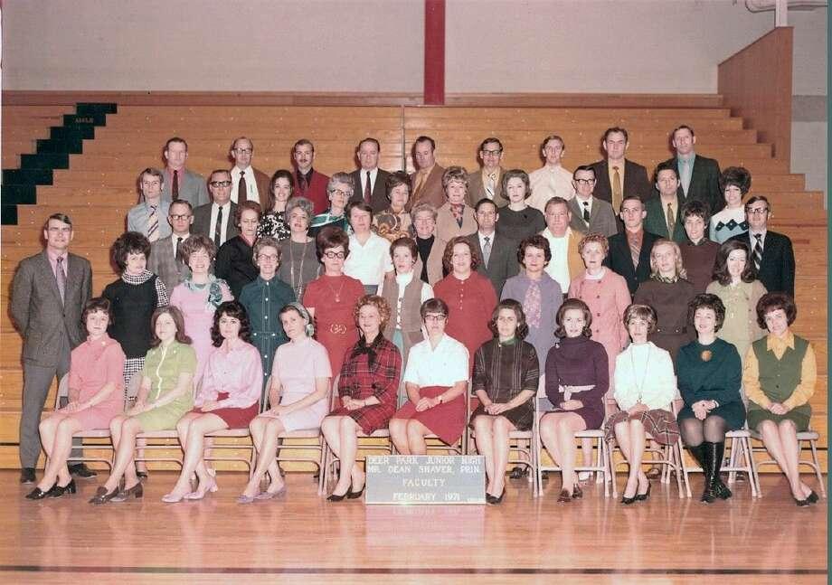 1970 Deer Park Junior High faculty picture.