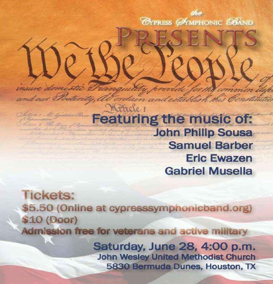 Cypress Symphonic Band presents 'We the People' on June 28