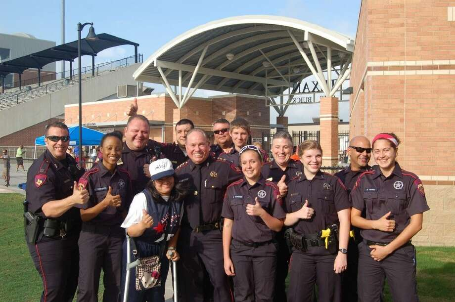 Chief Jim Sumner had members of the Pct. 4 Constable's Office explorer posts 26 and 901 in attendance for the Special Olympics of Texas' Torch Run May 9, 2015.
