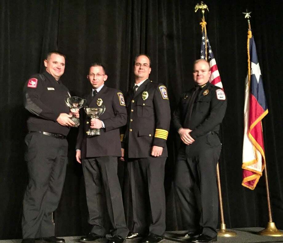 At the Southeast Texas Regional Advisory Council (SETRAC) banquet, the Montgomery County Hospital District and Porter Fire Department were presented with the Multi-Agency/ First Responder Team Award for their combined efforts in saving the life of a patient who sustained life threatening injuries while trimming a tree.