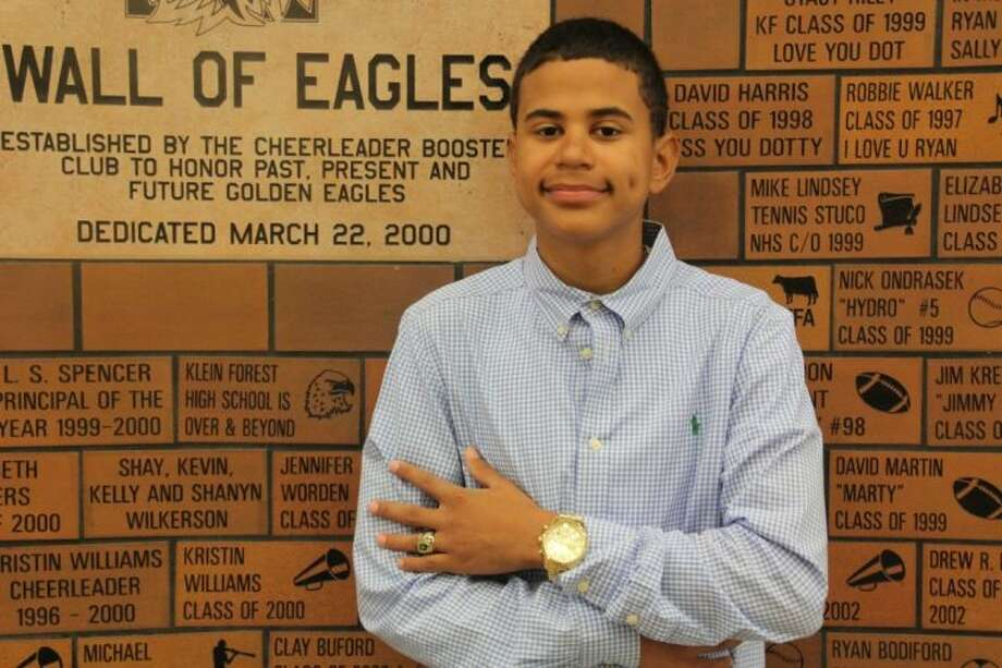 Klein Forest student Marvyn Ross earned a Lifetime Perfect Attendance Award. Photo: Submitted Photo