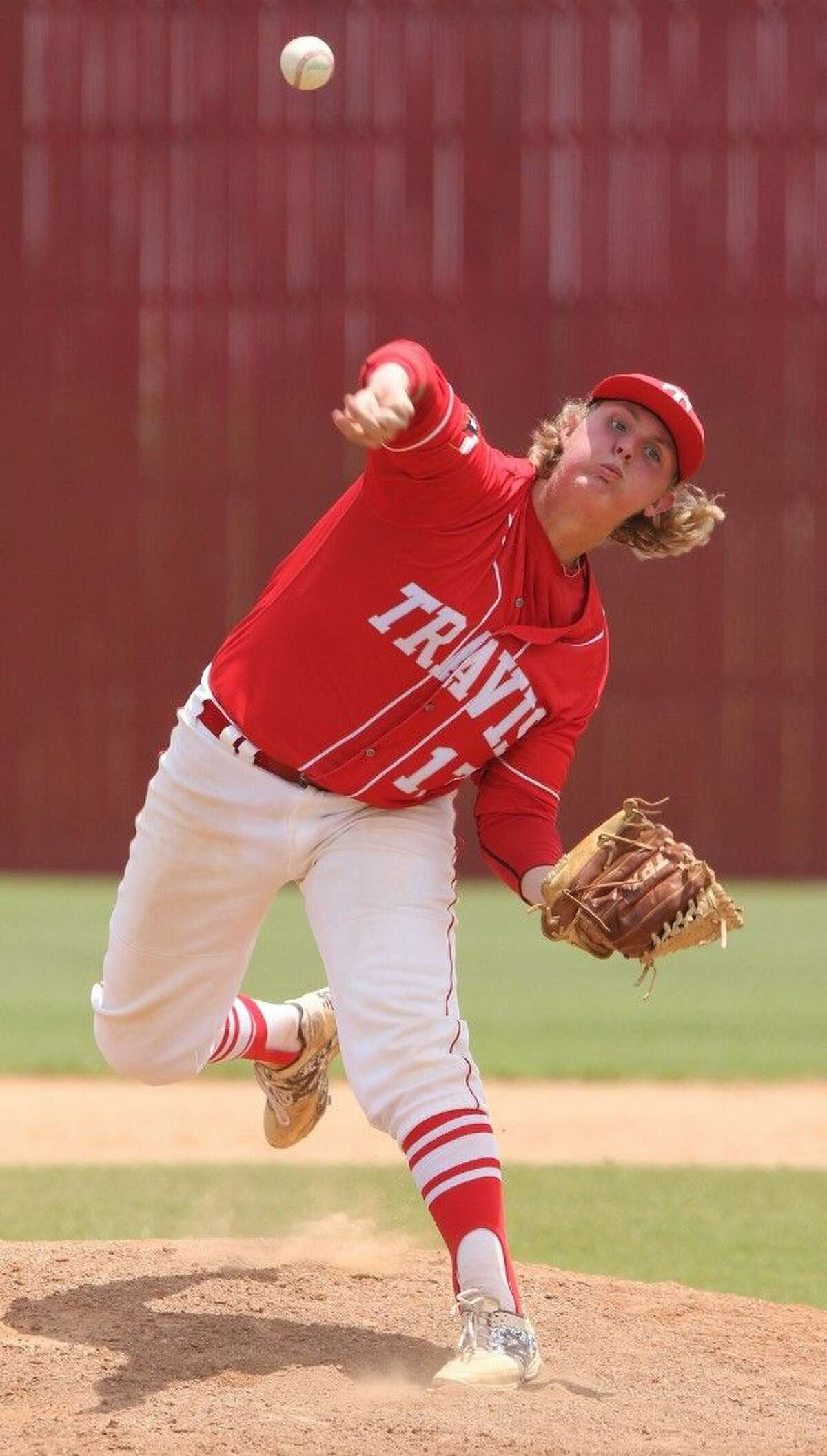 Cole Montgomery finished a no-hitter started by Karsten Fagan as Travis defeated Clements 2-0 on April 1. The Tigers have allowed 12 runs in 10 district games, recording six shutouts.