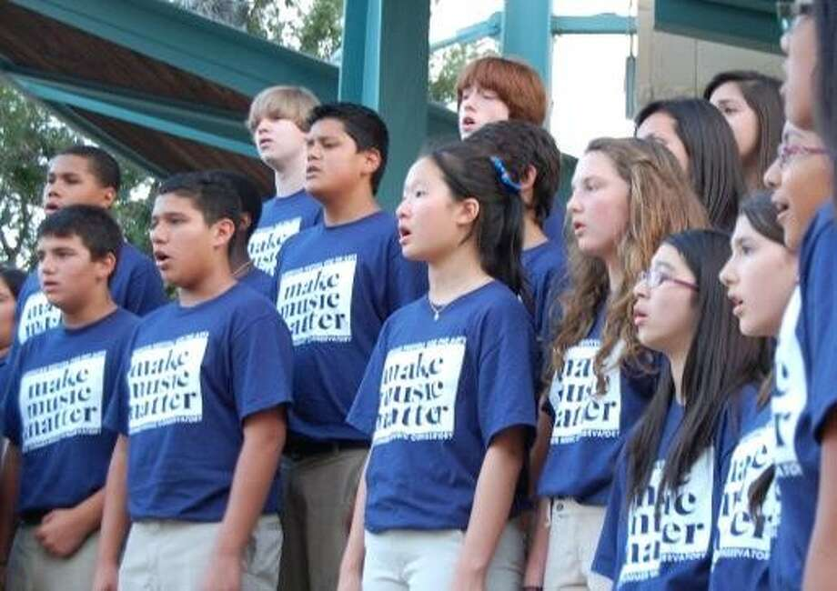AFA Conservatory Middle School Choir performs at Miller Outdoor Theatre last summer. This year's Middle School Festival will be held from 11 a.m. to 4 p.m. on Saturday, June 21, at Pershing Middle School, 3838 Blue Bonnet Blvd. The event marks the beginning of AFA's summer concert series.