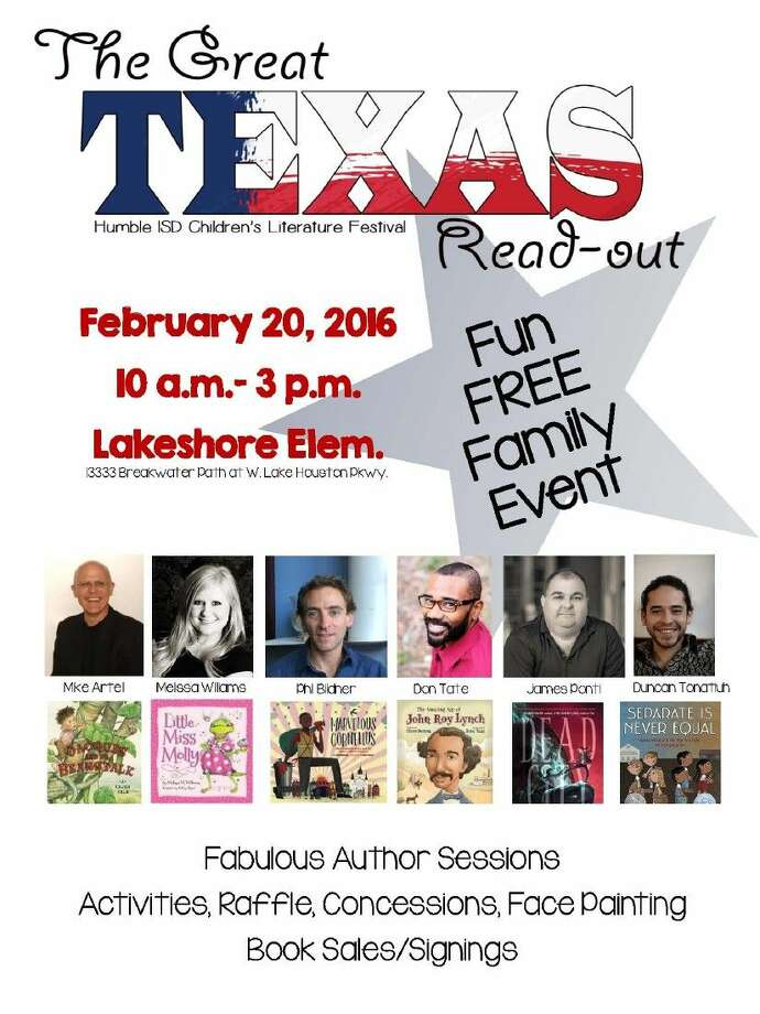Humble Independent School District Librarians will host The Great Texas Read-Out Literacy Festival on Saturday, Feb. 20 from 10 a.m. to 3 p.m. at Lakeshore Elementary.