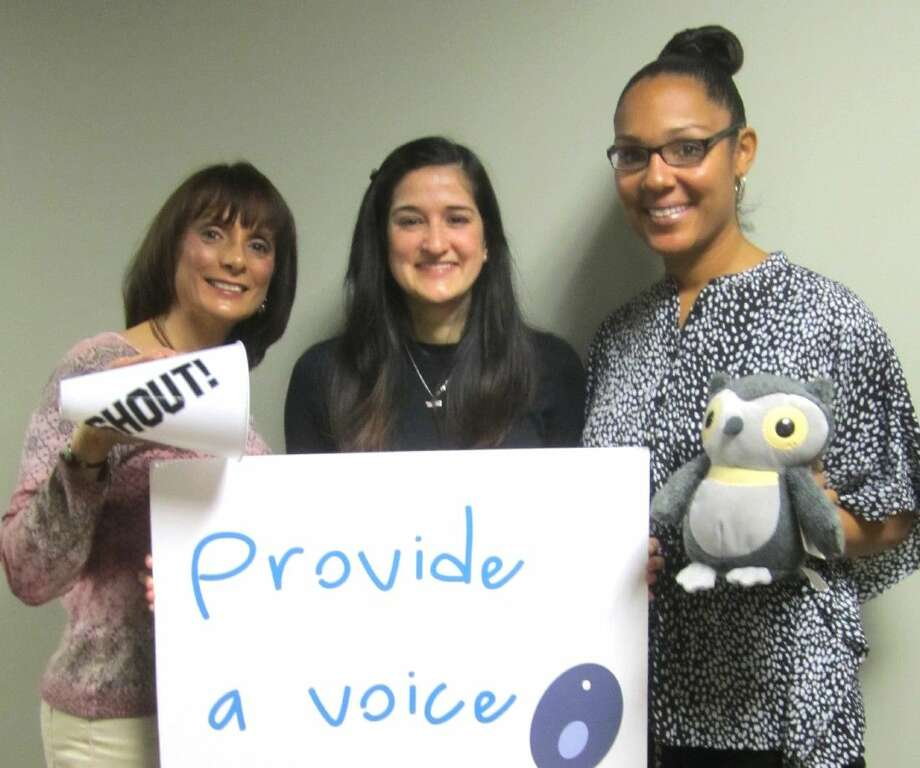 Gearing up for training are Child Advocates of Fort Bend CASA staff members Carol Thesing, Heather Rashid and Casey Davis. Volunteers must be over 21 years of age, complete an application and interview, and submit to background screening. Photo: Submitted