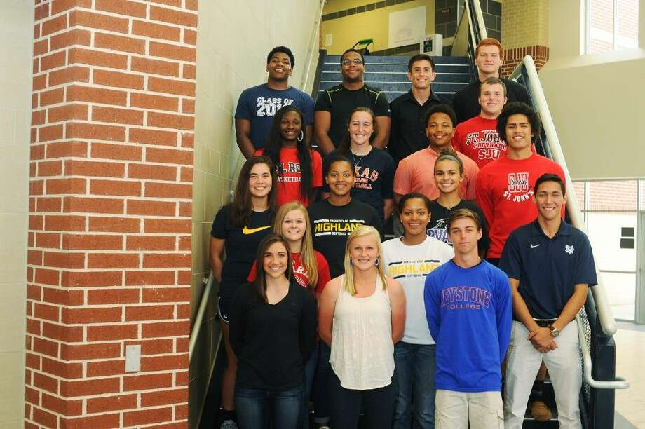 Tomball Memorial student-athletes signed National Letters of Intent to compete at the next level. Photo: Tony Gaines