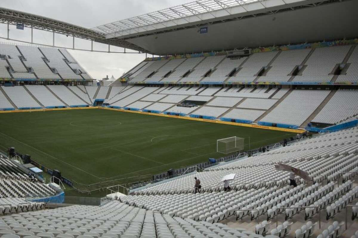 Final preparations are made one day before the opening World Cup match in Itaquerao stadium on Wednesday in Sao Paulo. If Brazil wins the opening game, the fact that Itaquerao isn't even fully finished yet will quickly be forgotten.