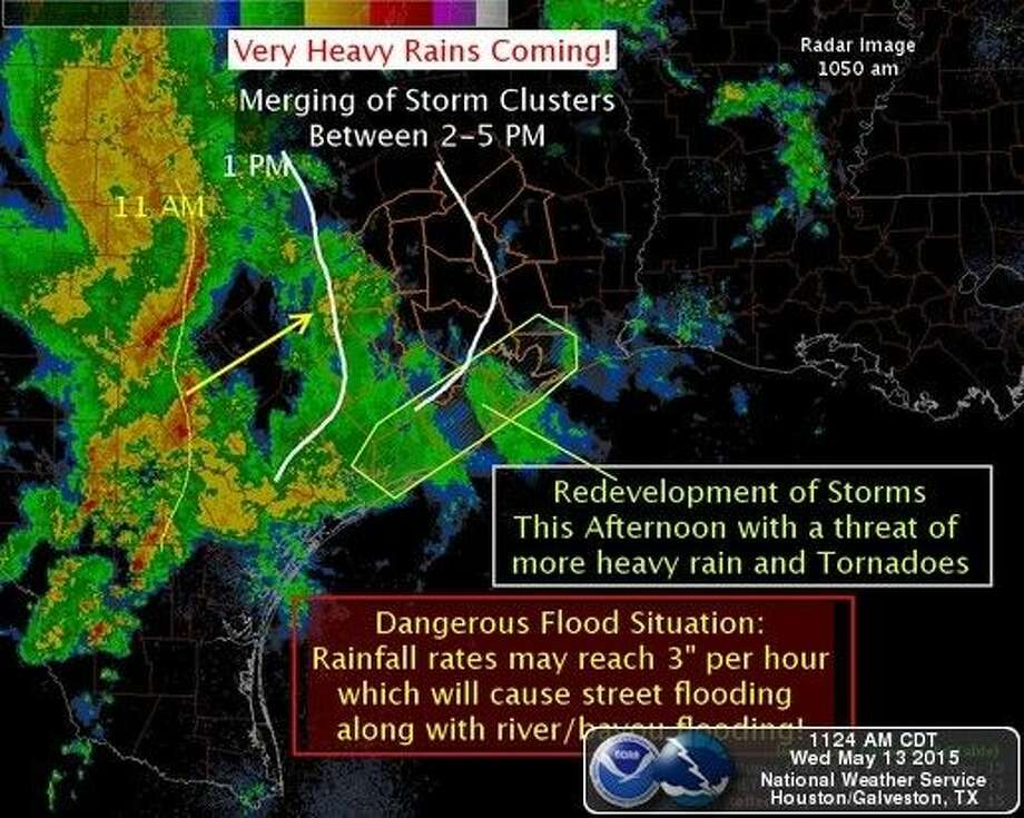 Here is the latest timing and impacts image. Graphic courtesy National Weather Service Houston Galveston.