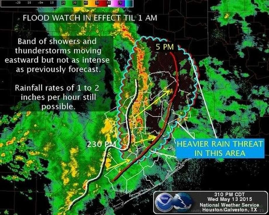 Graphic courtesy National Weather Service Houston Galveston.
