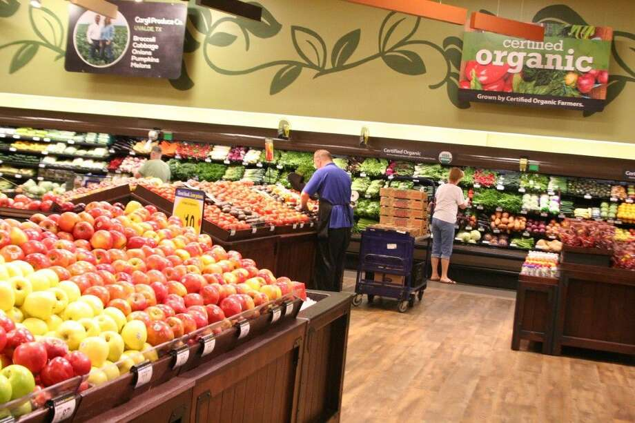 The organic section in the fruits and vegetable area was expanded to offer customers more options.