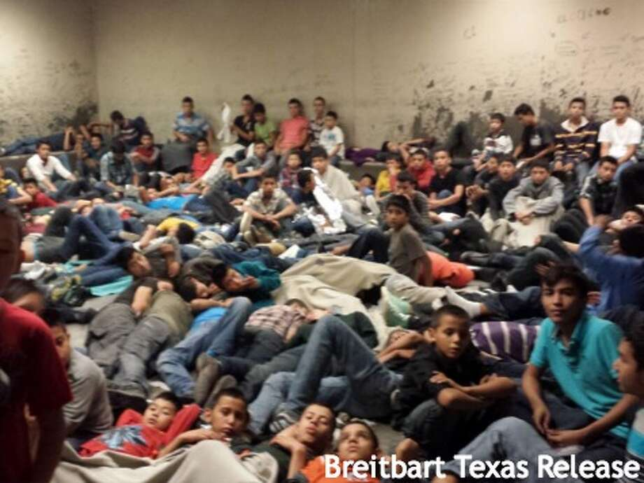 An image obtained by Breitbart Texas shows a Texas air base flooded with child immigrants. Photo: Breitbart Texas