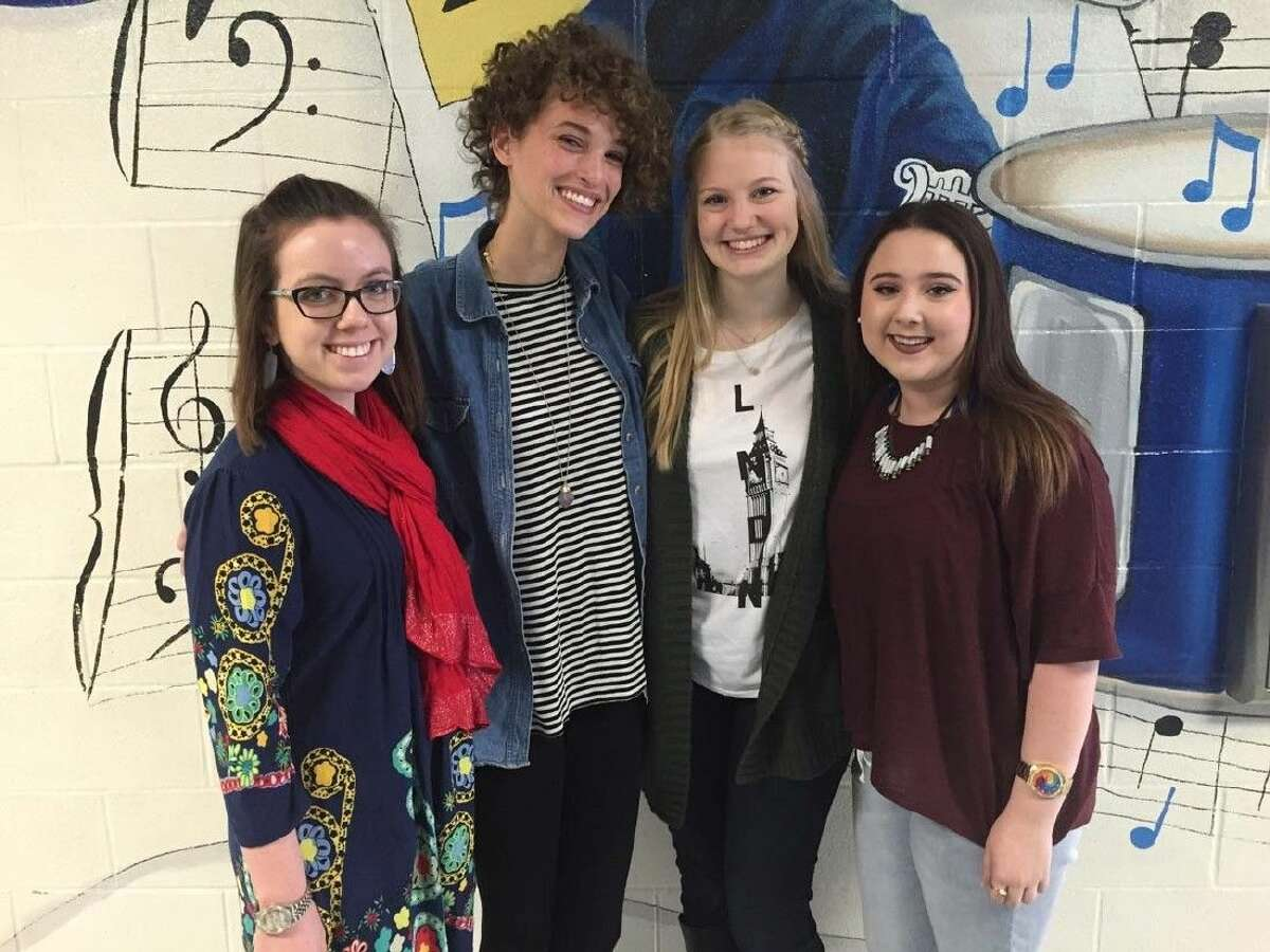 Picture are Kylee Hill, Maddie Pertuis, JoJo Twyford and Gina Baker (3-year All-State Choir member)