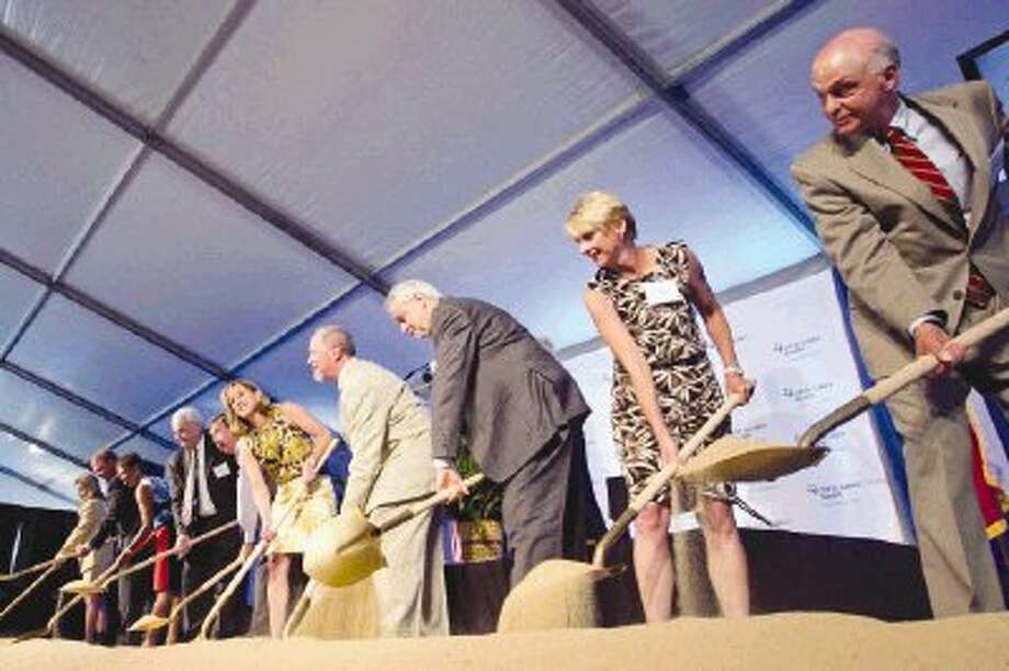 Ground for the new CHI St. Luke's Health hospital in Springwoods Village was officially broken during a ceremony Wednesday. Photo: Jason Fochtman / Conroe Courier / HCN