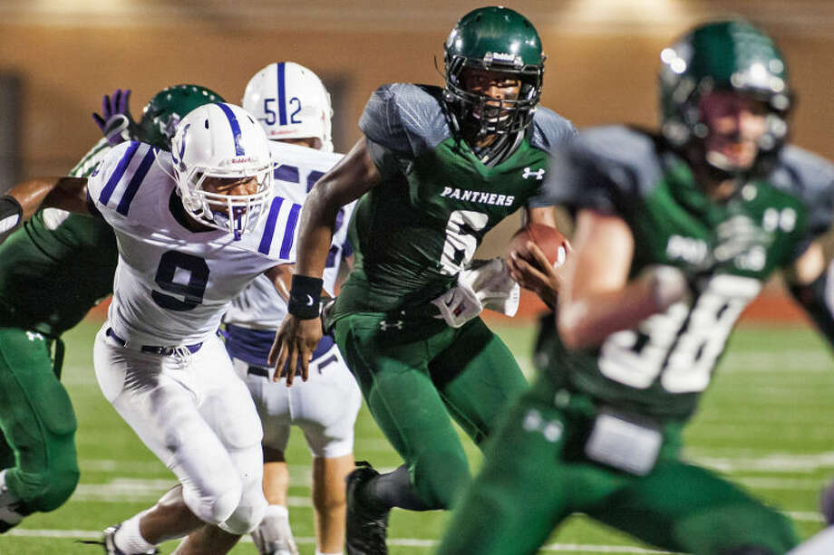Kingwood Park's Jaylon Henderson (6) has received scholarship offers from New Mexico, Texas State and UTSA in the last week.