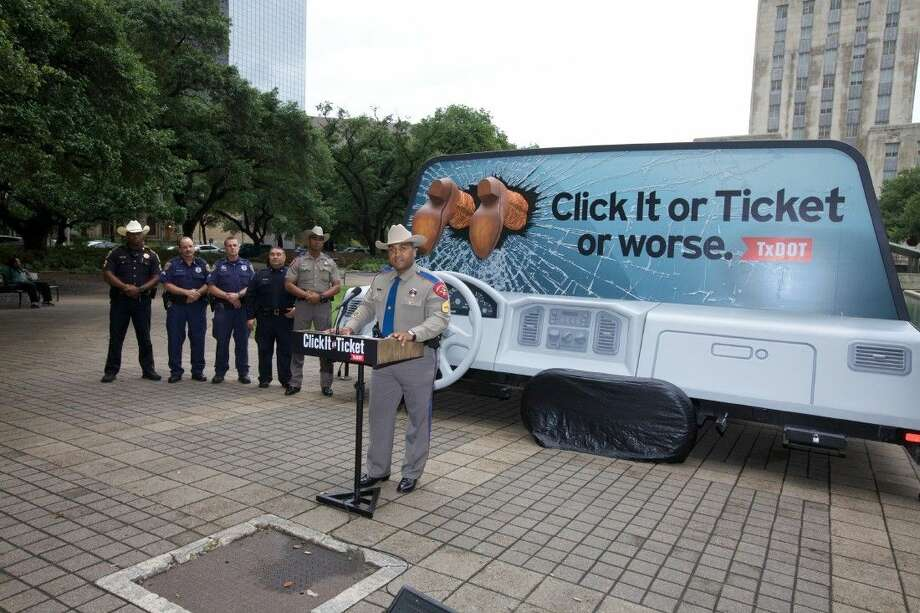 """For them, the Texas Department of Transportation is launching its 14th annual statewide """"Click It or Ticket"""" campaign to augment the federal, stepped-up enforcement period, May 18-31."""