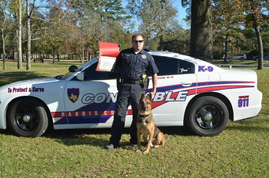 Deputy Mike Jones, an 8-year veteran with the Constable's office and his new K9 partner Jon are now ready to hit the streets. Photo: Submitted Photo
