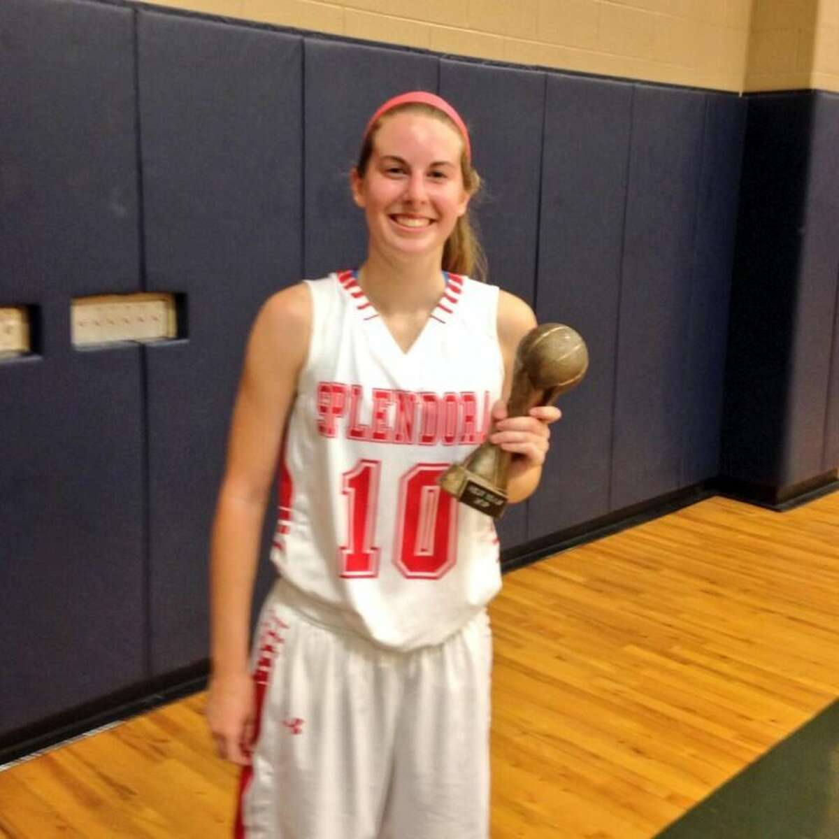 Splendora's Emily Richardson was named the MVP of the James White Memorial Classic All-Star game after scoring seven points for the West team in a victory.