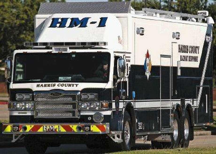 Hazmat units were summoned to the scene.