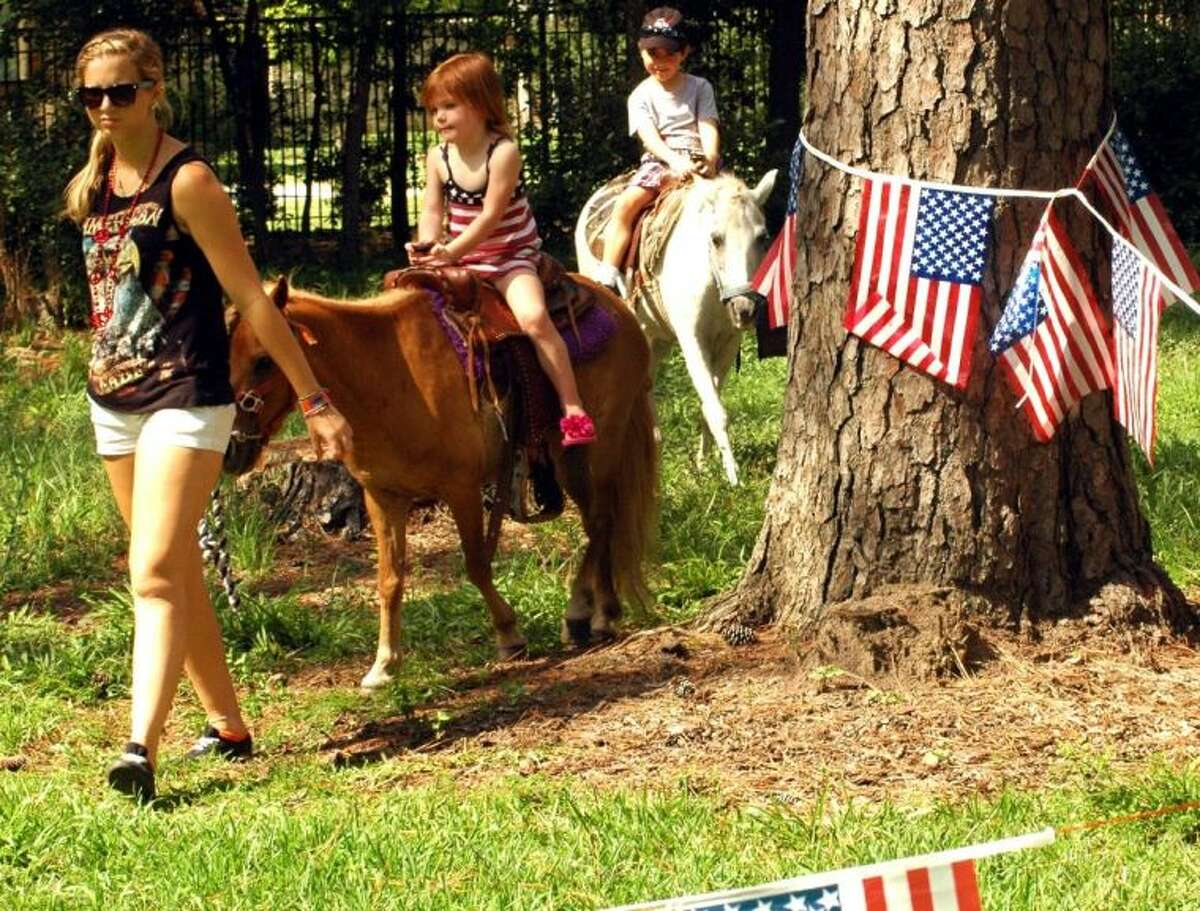 Pony rides are a big attraction at the Villages Independence Festival.