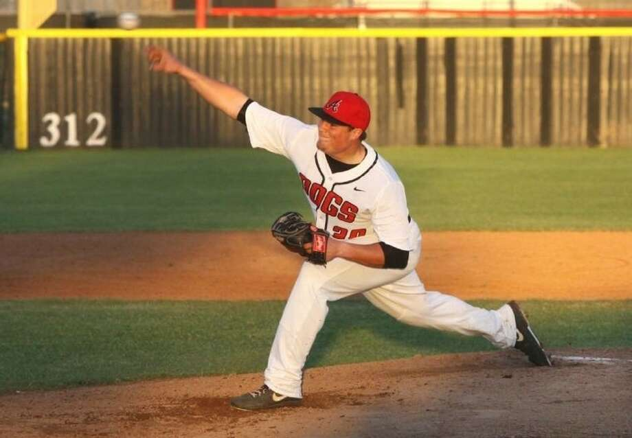 Recent Austin graduate Trevor Myklebust was voted District 23-5A Most Valuable Player for pitching the Bulldogs into the playoffs. Photo: Alan Warren