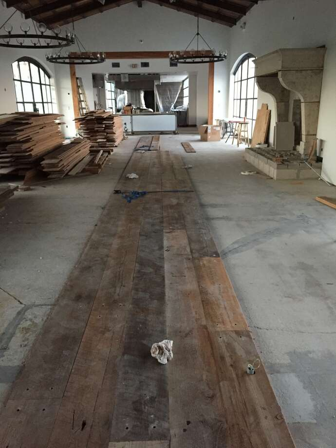 Wood flooring from the old Joske's department store is going into Signature restaurant.
