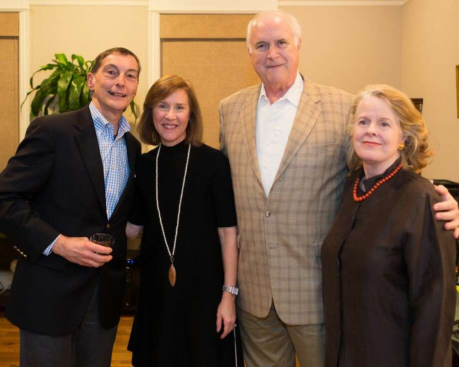Opera in the Heights Bravissimo chairs Tony and Heather Tripodo with 2016 honorees Fred and Josie Nevill at a recent kickoff party. Photo: Deji Osinulu
