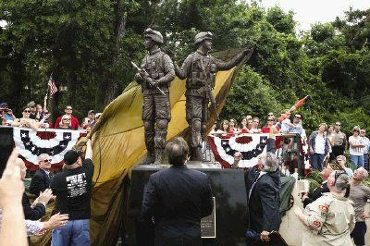 The Way Home Veterans Memorial was unveiled on Monday at Town Green Park.