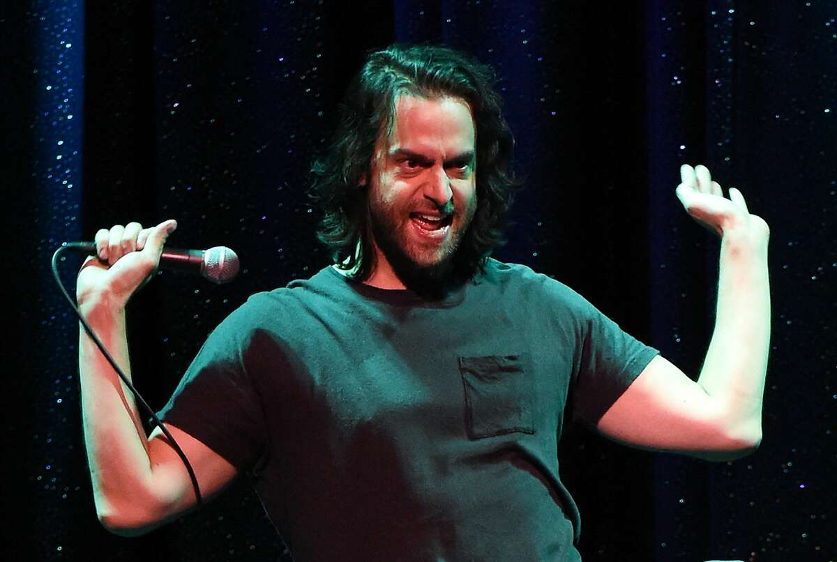 LAS VEGAS, NV - AUGUST 26: Actor/comedian Chris D'Elia performs his stand-up comedy routine as part of the Aces of Comedy series at The Mirage Hotel & Casino on August 26, 2016 in Las Vegas, Nevada. (Photo by Ethan Miller/Getty Images)