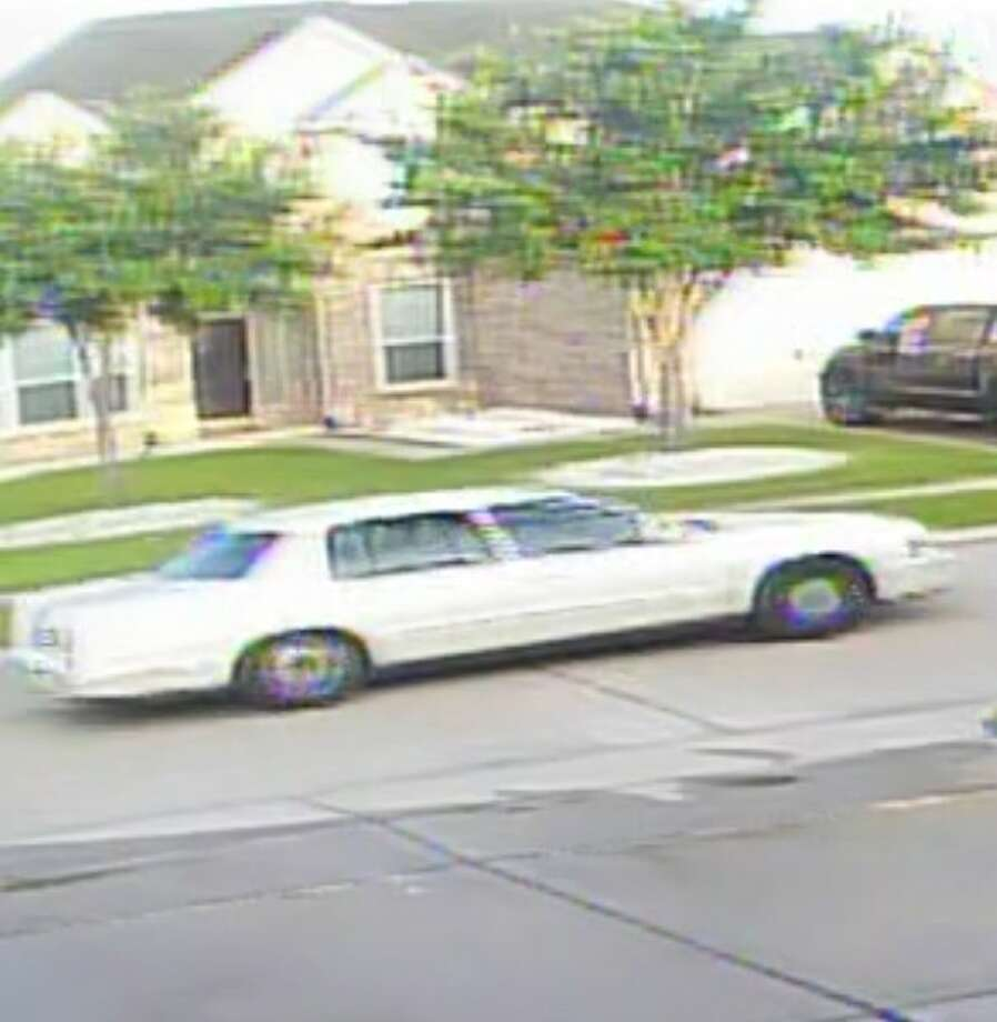An image of the 1990s white Cadillac sedan used by the perpetrators of an armed home invasion, Saturday, June 21, in a city of Fresno subdivision in east Fort Bend. Photo: Image Courtesy FBCSO