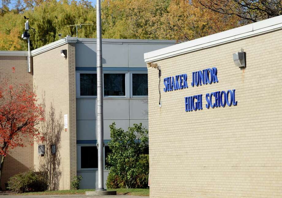 Exterior of Shaker Junior High School Monday, Oct. 26, 2015, in Colonie, N.Y.  (Will Waldron/Times Union archive) Photo: Will Waldron / 00033940A