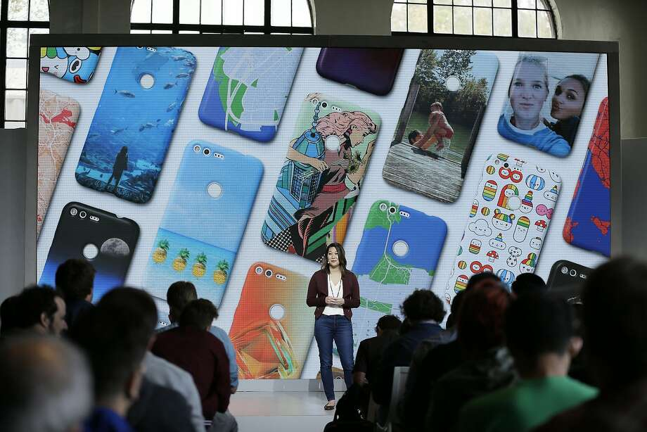Google's Sabrina Ellis talks about the  Google Pixel phone during a product event last year in San Francisco. Photo: Eric Risberg, Associated Press