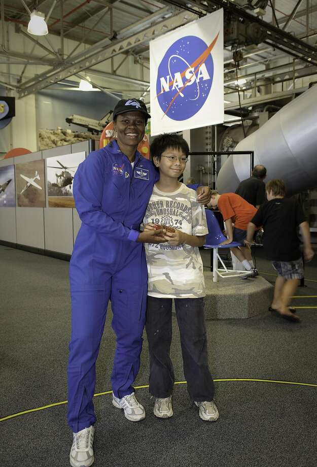 Dr. Yvonne Cagle, seen here at a Mountain View event, will discuss movies and space. Photo: Photo By Dominic Hart, Courtesy NASA Ames Research Center