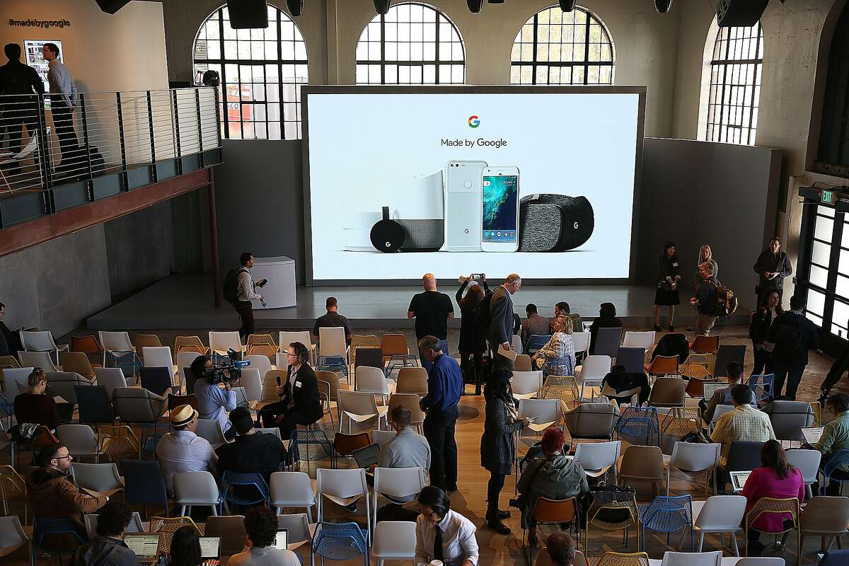 Google has a press conference at Fisherman's Wharf on Tuesday, October 4, 2016, in San Francisco, Calif.