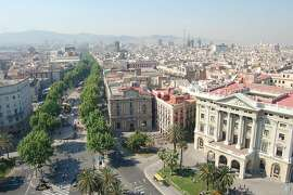 Meandering through the heart of Barcelona's Old City, the tree-lined Ramblas pedestrian drag flows from Pla�a de Catalunya to the waterfront.