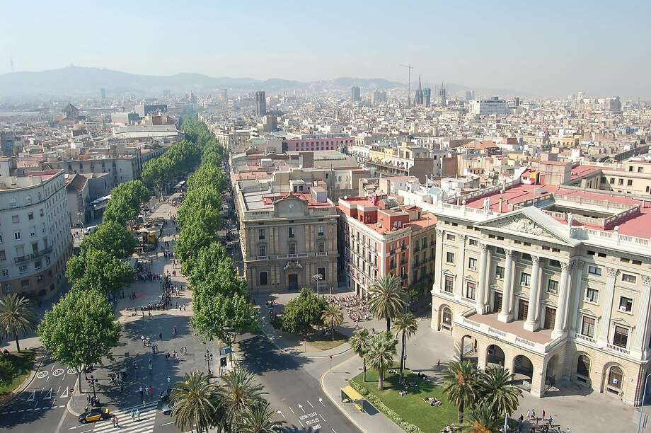 Meandering through Barcelona's Old City, the Ramblas pedestrian drag flows from Placa de Catalunya to the waterfront. Photo: Rick Steves