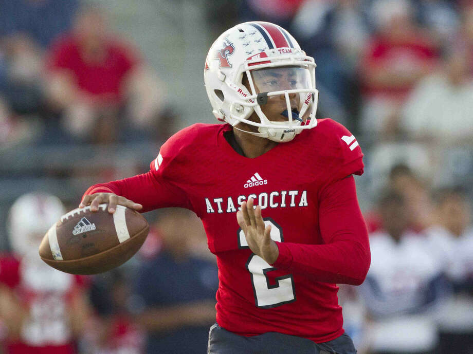 Atascocita quarterback Daveon Boyd drops back to pass during a high school football game. To view or purchase this photo and others like it, visit HCNpics.com. Photo: Jason Fochtman