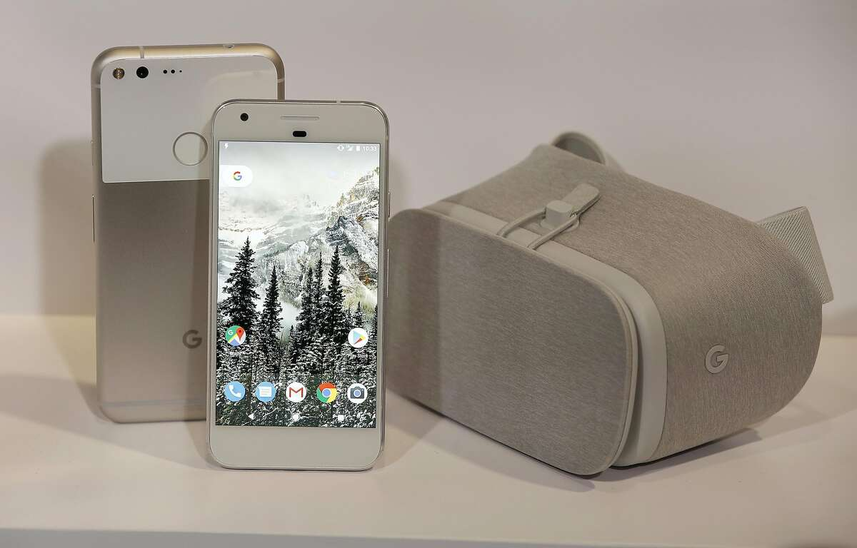Google has a press conference at Fisherman's Wharf introducing Pixel, their first phone at a Google press conference at Fisherman's Wharf on Tuesday, October 4, 2016, in San Francisco, Calif.