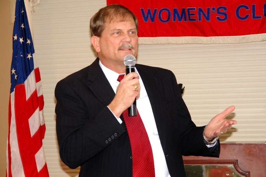 Tom Mechler, Chairman of the Republican Party of Texas, spoke to the Montgomery County Republican Women Thursday at the River Plantation Country Club in Conroe.