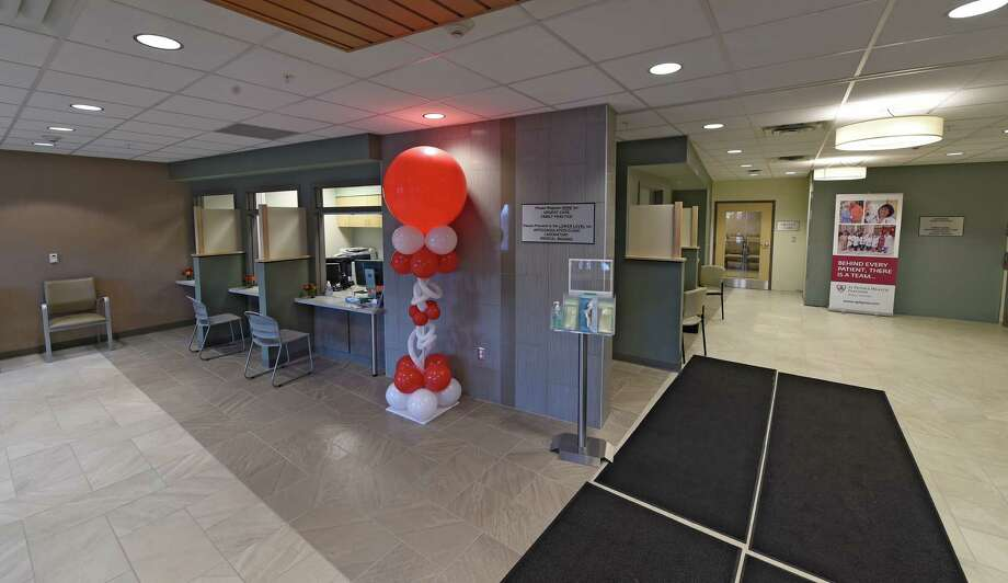 Interior view of reception area at the Emergency care clinic on the new St. Peters Medical Campus Tuesday Oct.  4,  2016 Clifton Park, N.Y.   (Skip Dickstein/Times Union) Photo: SKIP DICKSTEIN / 40038246A