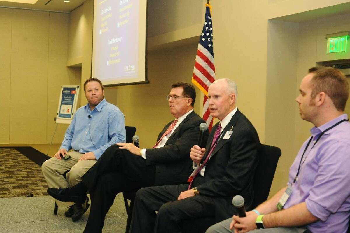 Panelists Rafranz Davis, HISD Superintendent Terry Grier and Klein ISD Superintendent Jim Cain answer questions and concerns at the recent Future Ready Regional Summit.