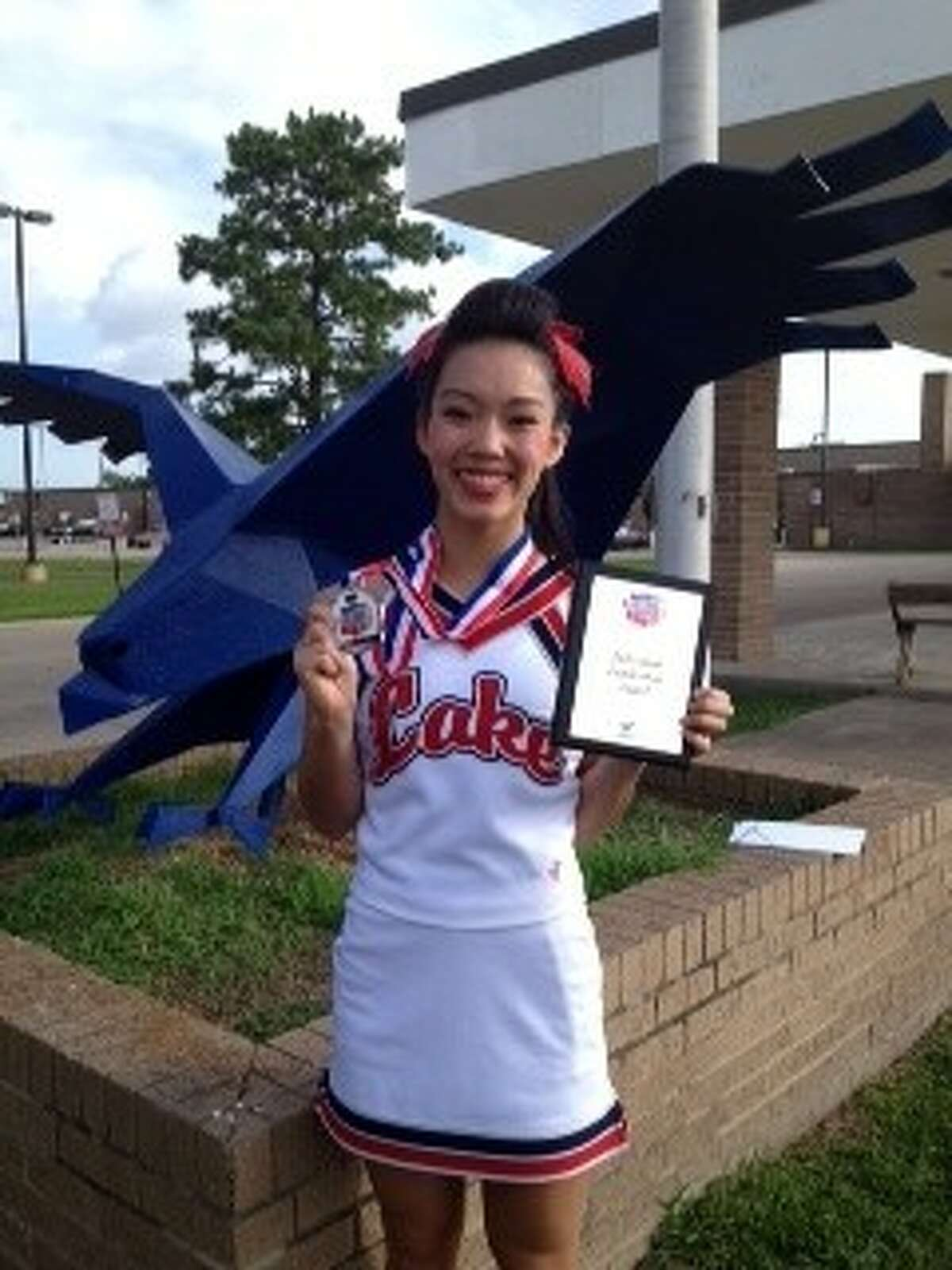 Clear Lake High School's Juliana Boyle was named top all-American cheerleader over all other cheerleaders recently at the NCA camp in Dallas.