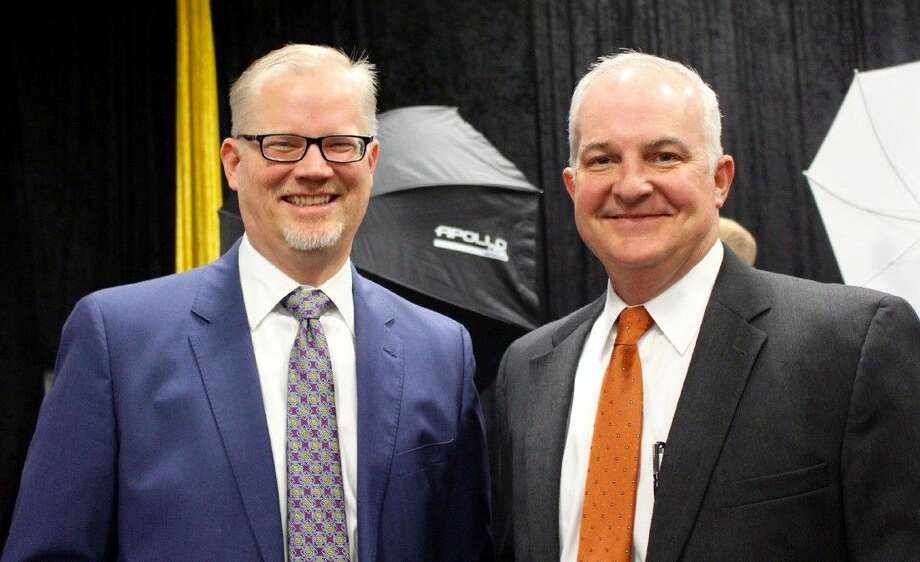 Alvin ISD Superintendent Dr. Buck Gilcrease, right, announced on Nov. 13 that he would retire once a new schools chief is chosen, probably in spring 2019. >>See what superintendents in the area make...