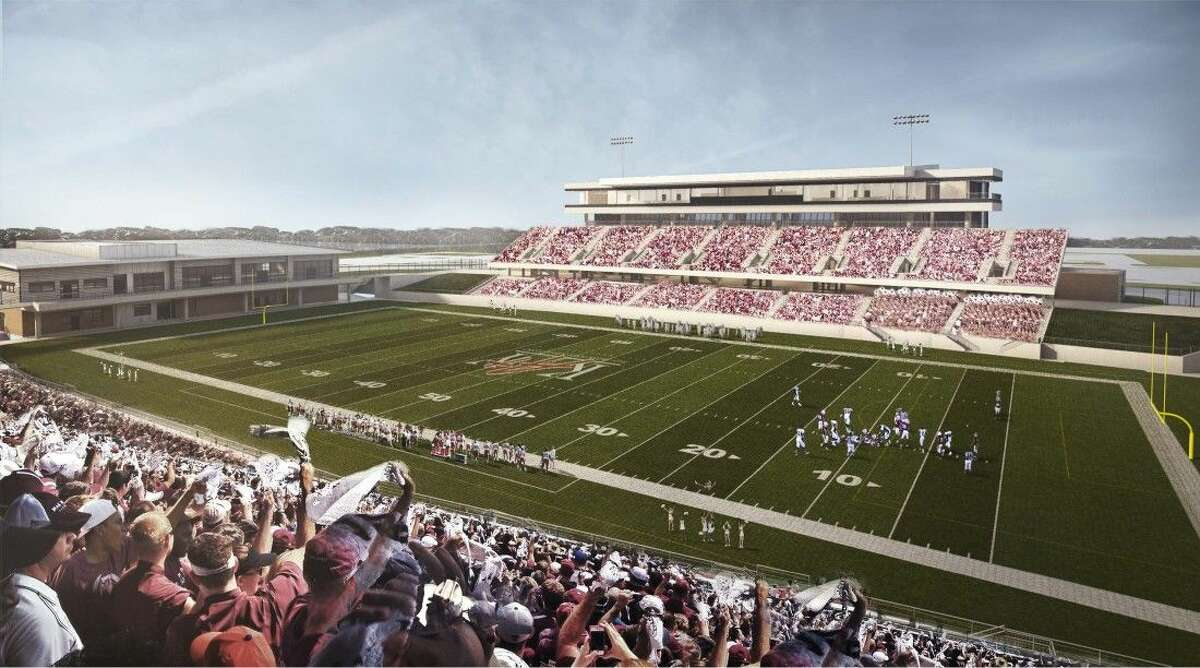 Pictured here is the artist rendering of Katy ISD's second stadium. The newest 2014 bond project should be ready for operation by early 2017.