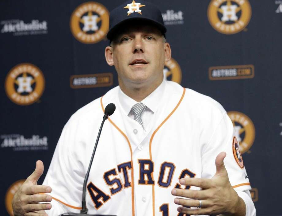 A.J. Hinch is the new manager of the Astros.