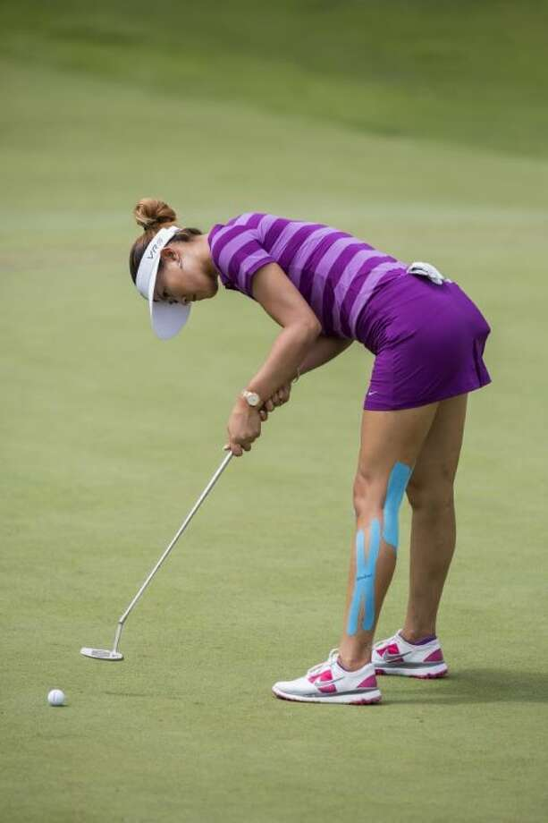 Michelle Wie shot a 66 on Saturday to take the lead at the NW Arkansas Championship.