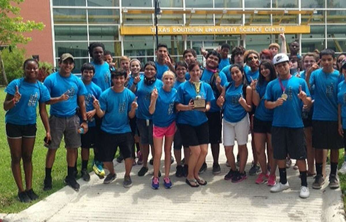 ACC Upward Bound students pose for a photo after winning the Gulf Coast Upward Bound Competition for the 10th straight year.