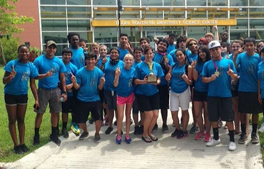 ACC Upward Bound students pose for a photo after winning the Gulf Coast Upward Bound Competition for the 10th straight year. Photo: Courtesy ACC