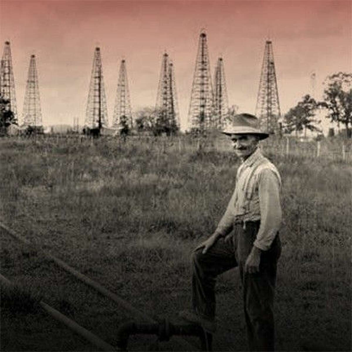 Back cover photo from Texas Boomtowns: A History of Blood and Oil, by Bartee Haile
